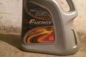 Детальный обзор моторного масла G-Energy F Synth 5W40 синтетика